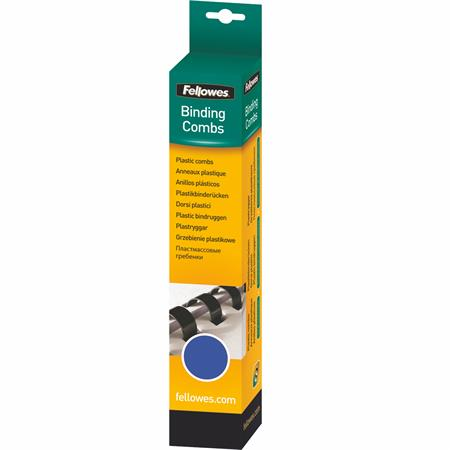 Fellowes 8 mm műanyag spirál   21-40 lap   kék   25 db