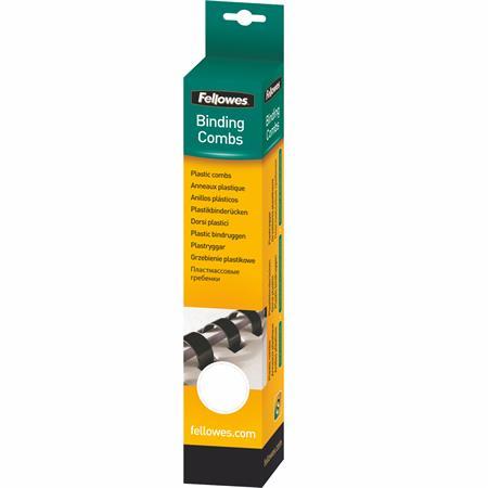 Fellowes 10 mm műanyag spirál | 41-55 lap | fehér | 25 db