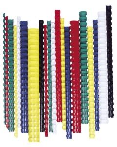 Fellowes 8 mm műanyag spirál | 21-40 lap | fekete | 100 db