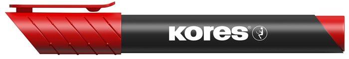 Alkoholos marker, 3-5 mm, kúpos, KORES K-Marker, piros