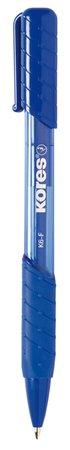 Golyóstoll, 0,5 mm, nyomógombos, KORES K6-F, kék