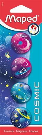 Mágnes, kerek, 30 mm, MAPED Cosmic, vegyes színek