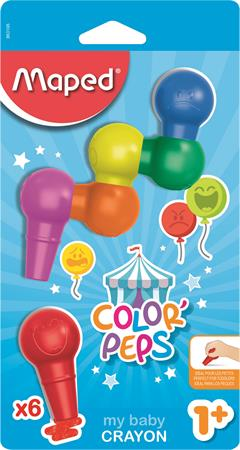 Zsírkréta, MAPED Color`Peps Baby, 6 különböző szín