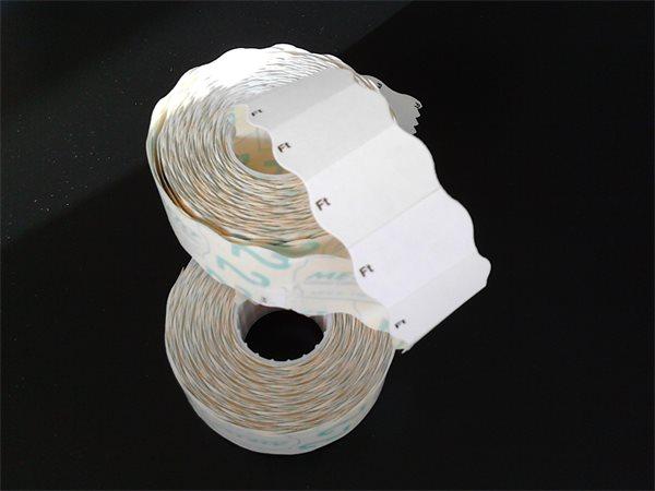 Árazógépszalag, 26x16 mm, METO, Ft, fehér
