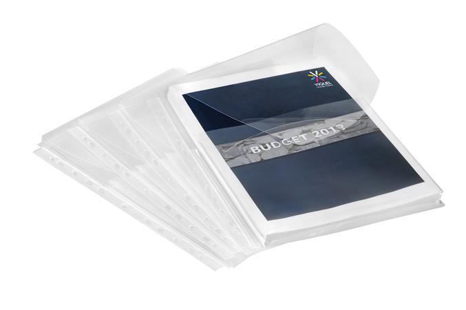 Genotherm, lefűzhető, A4, 200 mikron, füllel, 20 mm, VIQUEL, víztiszta