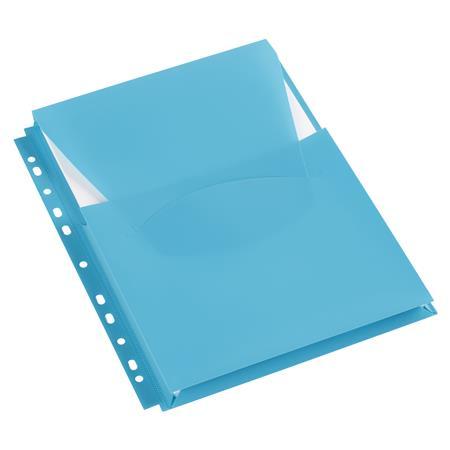 Genotherm, lefűzhető, A4, 200 mikron, füllel, 20 mm, VIQUEL, kék