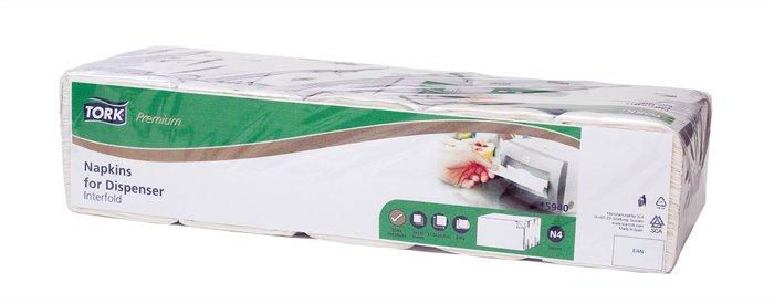 Szalvéta, adagolós, 2 rétegű, 21,3x33 cm, N4 rendszer, Premium, TORK Xpressnap® Extra Soft, fehér