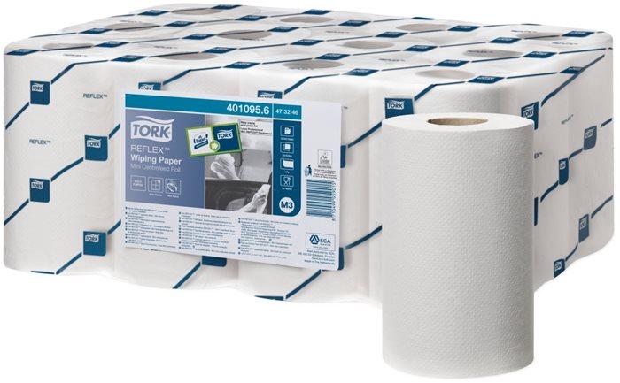 Törlőpapír, tekercses, 13 cm átmérő, M3 rendszer, Advanced, TORK Reflex™, fehér