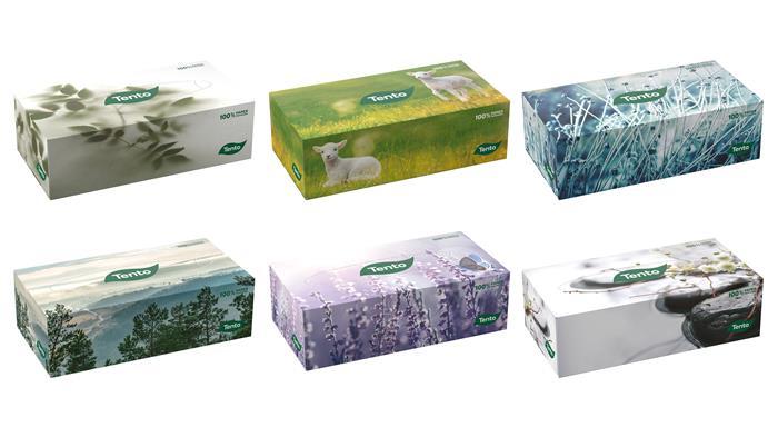 Kozmetikai kendő, 2 rétegű, 120 lapos, TENTO Family Box