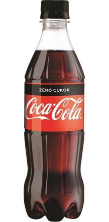 Üdítőital, szénsavas, 0,5 l, COCA COLA Coca Cola Zero