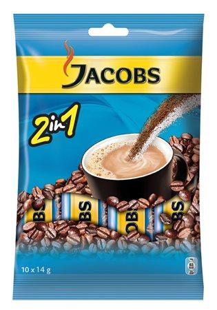 Instant kávé stick, 10x14 g, JACOBS 2in1