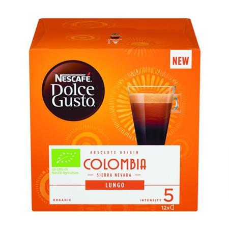 Kávékapszula, 12 db, NESCAFÉ Dolce Gusto Lungo Colombia