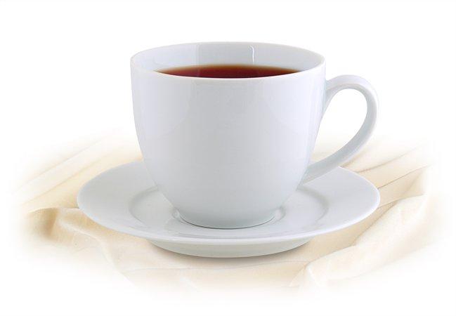 Teáscsésze+alj,ROTBERG, fehér, 38cl, 4db-os szett, Basic