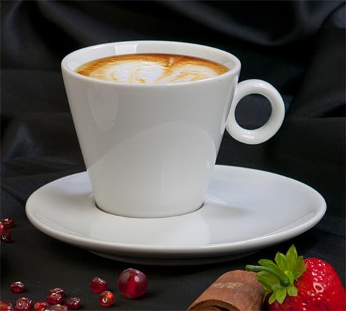 Kávéscsésze+alj, fehér, 22cl, 2db-os szett, CoffeeTime