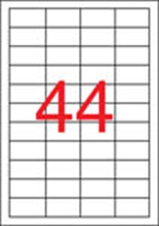 Apli etikett címke | univerzális | 48,5x25,4 mm | eltávolítható | 4400 etikett/csomag