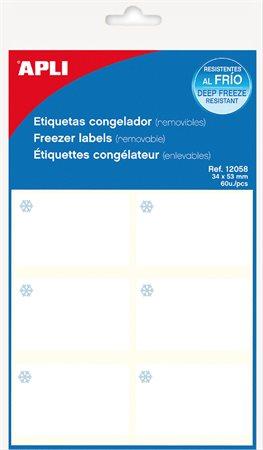 Apli etikett címke | 34x53 mm | fagyasztható | kerekített sarkú | A5 hordozón | 60 etikett/csomag