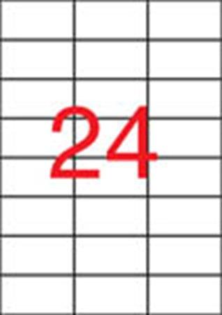 Apli etikett címke | 70x37 mm | poliészter | időjárásálló | matt | áttetsző | 480 etikett/csomag