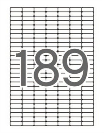 Apli etikett címke | univerzális | kerekített sarkú | 25,4x10 mm | 1890 etikett/csomag