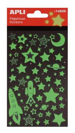 Matrica, világító, APLI, csillagok