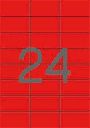 Apli etikett címke | 70x37 mm | piros | 480 etikett/csomag