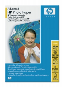 Q8692A Fotópapír, tintasugaras, 10x15, 250 g, fényes, HP
