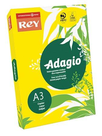 Másolópapír, színes, A3, 80 g, REY Adagio, intenzív sárga