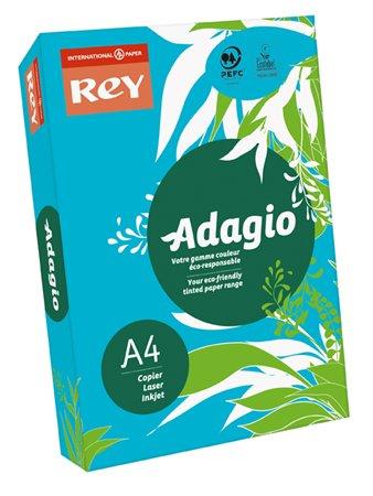 Másolópapír, színes, A4, 80 g, REY Adagio, intenzív kék