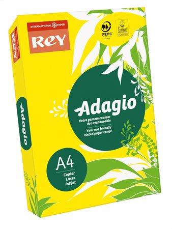 Másolópapír, színes, A4, 80 g, REY Adagio, intenzív sárga