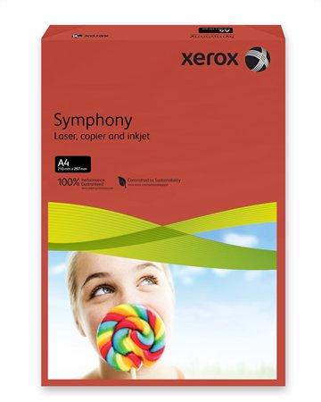 Másolópapír, színes, A4, 80 g, XEROX Symphony, sötétpiros (intenzív)