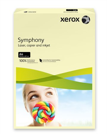Másolópapír, színes, A4, 80 g, XEROX Symphony, csontszín (pasztell)