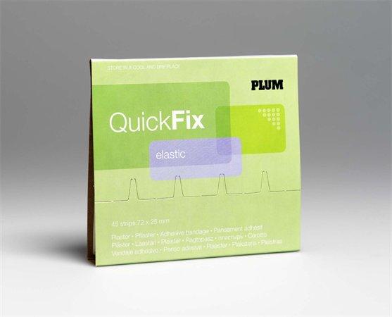 Sebtapasz utántöltő Quick Fix,45 darabos, rugalmas textil,  PLUM