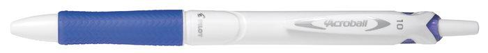 Golyóstoll, 0,32 mm, nyomógombos, PILOT Acroball Pure White, kék