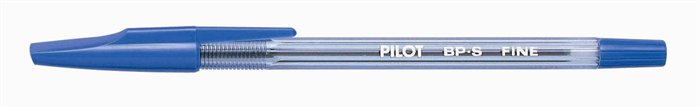 Golyóstoll, 0,27 mm, kupakos, PILOT BP-S, kék