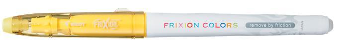 Filctoll, 0,39-0,7 mm, törölhető, PILOT Frixion Colors, sárga