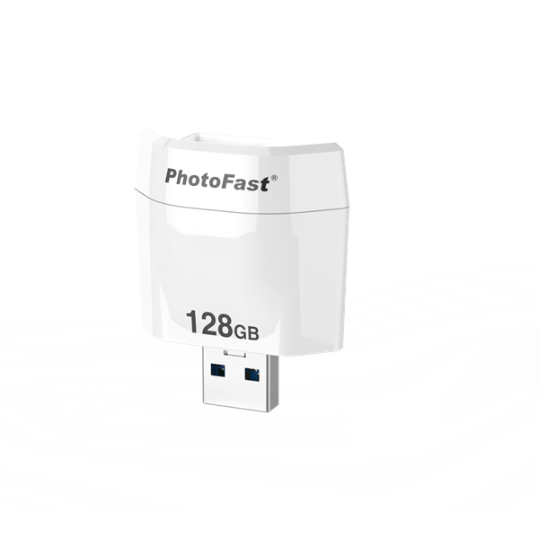 PhotoFast PhotoCube R backup megoldás | iOS | 128GB belső memória | microSD-vel bővíthető