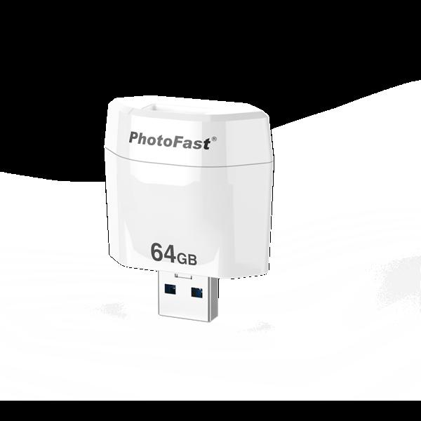 PhotoFast PhotoCube R backup megoldás | iOS | 64GB belső memória | microSD-vel bővíthető