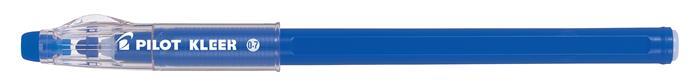 Golyóstoll, 0,35 mm, törölhető, kupakos, PILOT Kleer, kék