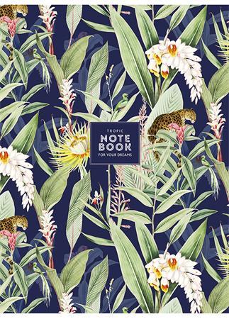 Füzet, tűzött, kockás, A4, 80 lap, SHKOLYARYK Tropic notebook, vegyes
