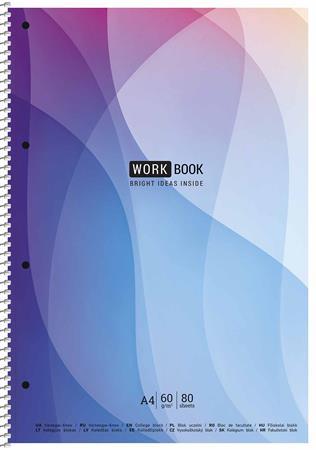 Spirálfüzet, kockás, A4, 80 lap, SHKOLYARYK WORK BOOK, vegyes