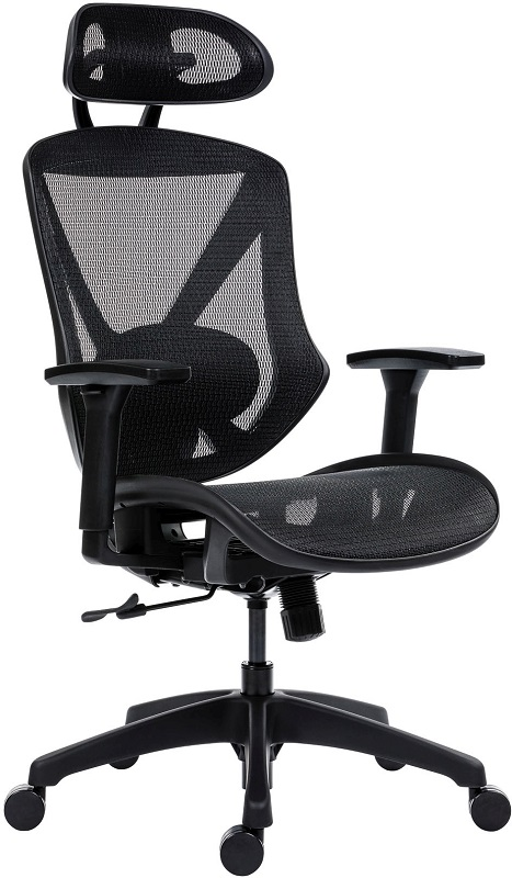Scope XXL főnöki forgószék | hálós háttámla és ülőlap | állítható karfa | fejtámla | műanyag lábkereszt | fekete