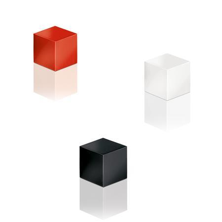 Mágnes, kocka, 11x11x11 mm, 3 db, SIGEL  Artverum®, 3 különböző szín