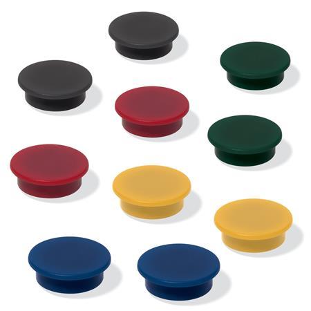 Mágneskorong, 25 mm, 10 db/csomag, SIGEL, 5 különböző szín