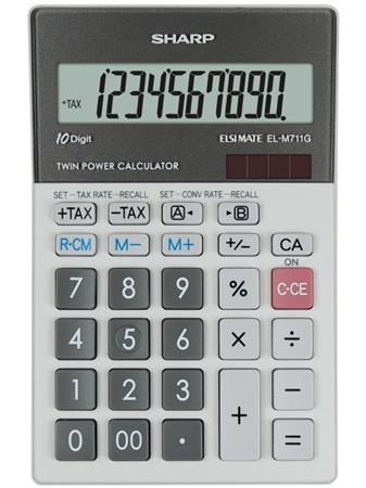 Számológép, asztali, 10 számjegy, SHARP EL-M711G