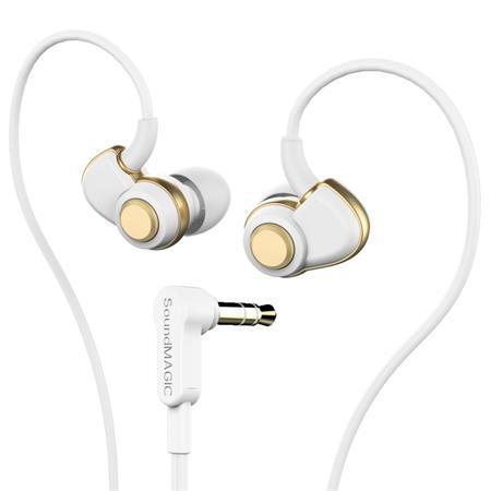 Fülhallgató, SOUNDMAGIC PL30+ , fehér-arany