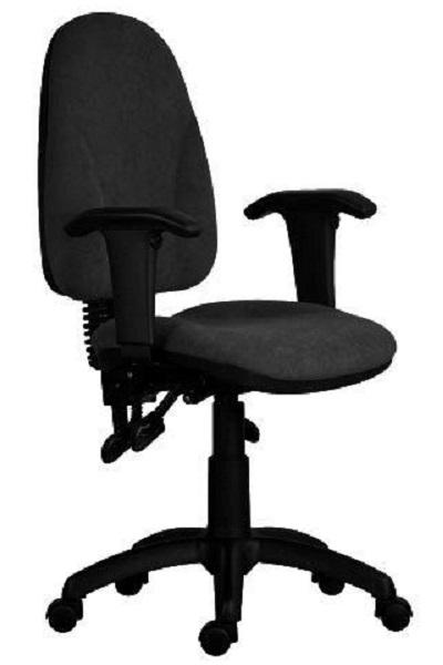 Synergos LX irodai forgószék | műanyag lábkereszt | állítható karfa | C.11 fekete