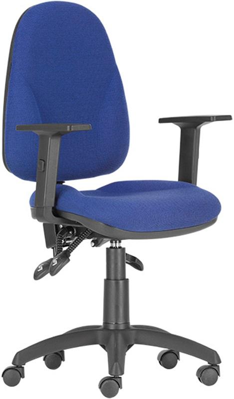 Synergos LX irodai forgószék | műanyag lábkereszt | állítható karfa | C.14 kék-fekete