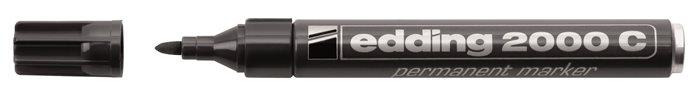Alkoholos marker, 1,5-3 mm, kúpos, EDDING 2000, fekete