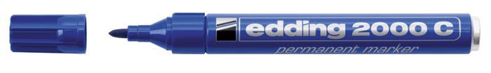 Alkoholos marker, 1,5-3 mm, kúpos, EDDING 2000, kék