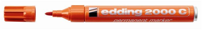Alkoholos marker, 1,5-3 mm, kúpos, EDDING 2000, narancssárga