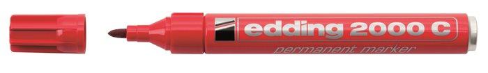 Alkoholos marker, 1,5-3 mm, kúpos, EDDING 2000, piros